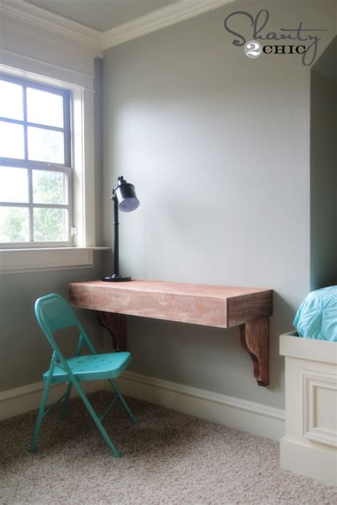 Diy Frame Shelves Shanty 2 Chic Wall To Wall Desk Diy