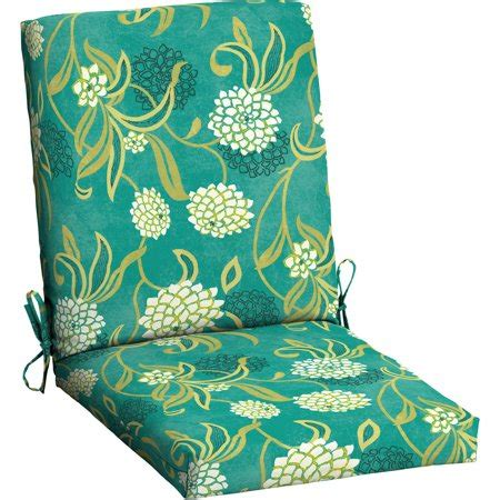 mainstays outdoor patio dining chair cushion walmart