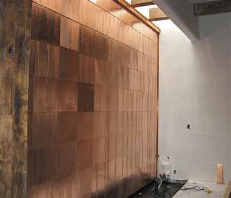 copper walls copper wall interior waterfall for interior decorating