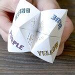 Origami Fortune Teller History - interesting origami calendar 2016