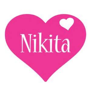 nikita logo name logo generator i love love heart