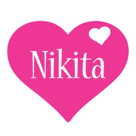 name style design nikita logo name logo generator i love love heart