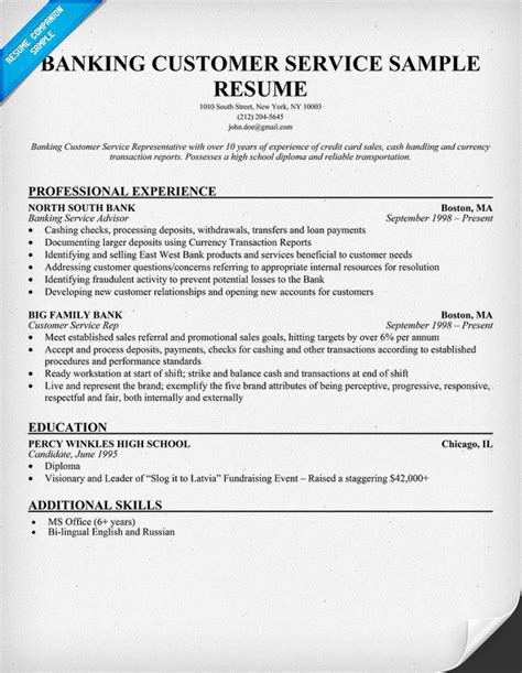 entry level customer service representative resume 28
