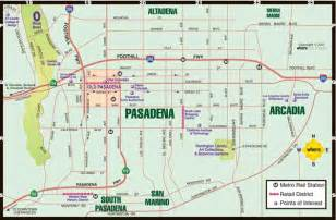 where is pasadena on the map pasadena map