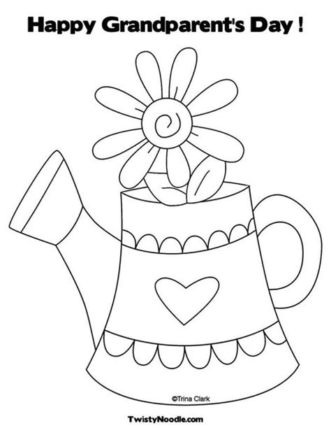 coloring page for grandparents day free coloring pages