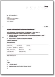 Antrag Verlustrücktrag Vorlage Antrag Auf Auskunft Aus Dem Verkehrszentralregister Muster Vorlage Zum