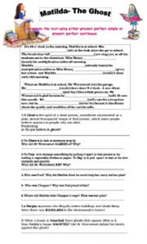 matilda book report worksheet matilda tenses