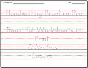 Practice Cursive Writing Worksheet » Home Design 2017