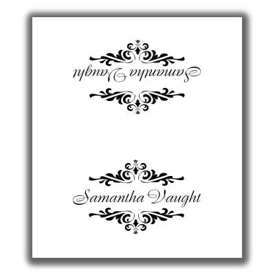 sided place card template place card template 1