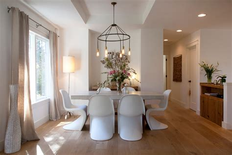 white oak flooring Dining Room Contemporary with My Houzz