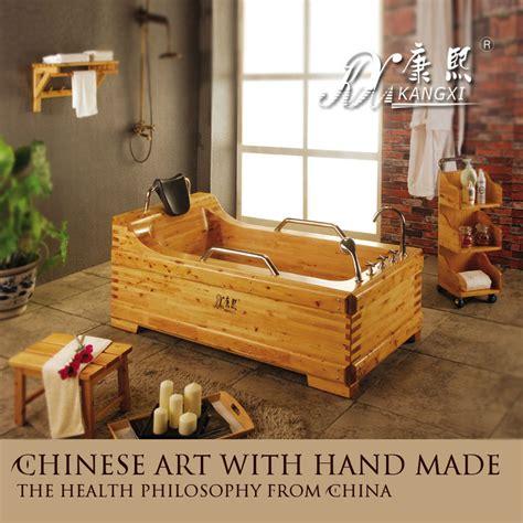 One Piece Bathtub Surround by Wooden Tub From China Bathroom Wooden Bathtub View