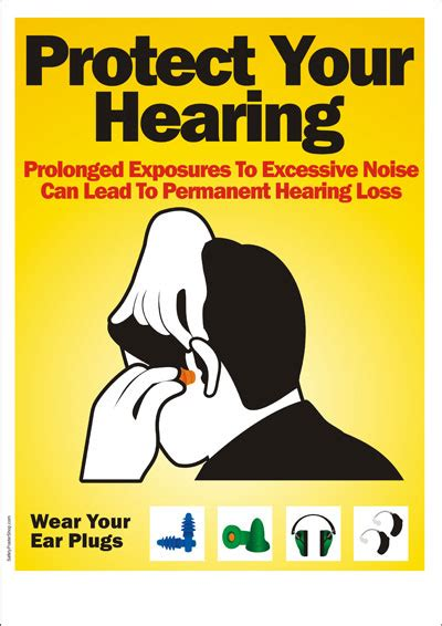 safety poster   protect your hearing safety poster shop