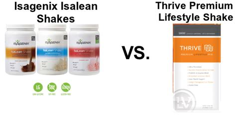 Thrive 30 Day Detox by Isalean Shake Versus Thrive Shake