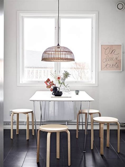 exceptional Colors To Paint Your Room #5: 18-simple-dining-room-with-Ikea-Frosta-stools-and-a-basket-lamp.jpg