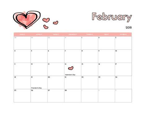Calendar 2018 Feb February 2018 Calendar Holidays Calendar 2018