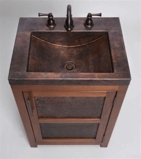 Thompson Traders Wave Plumbing Bathroom Vanity With Copper Sink