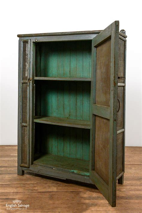 vintage wooden mesh front pantry cabinet