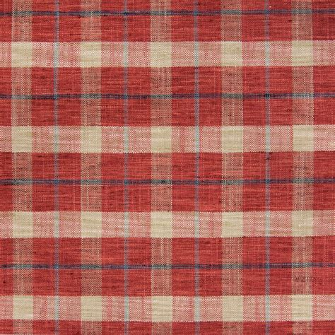 tartan vs plaid pompeii red plaid woven upholstery fabric