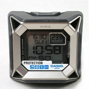 casio shock protection resist digital alarm clock with thermometer gq 500 ebay