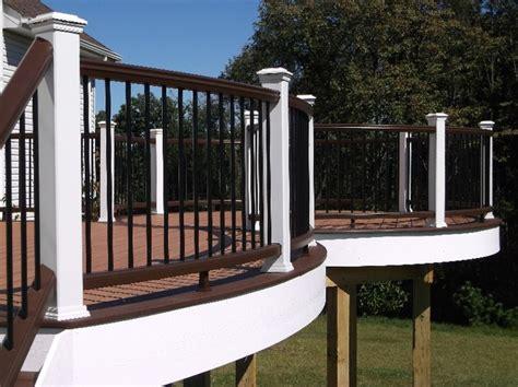 Black Deck Balusters Trex Deck With Vintage Lantern White Rail With Black