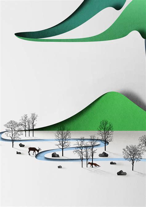 Landscape Essay Paper Landscape Illustrated By Eiko Ojala Colossal
