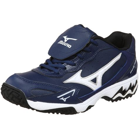 athletic trainer shoes mizuno mens wave trainer g5 athletic shoe in blue for
