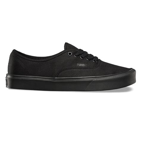 sneakers vans authentic lite canvas black black