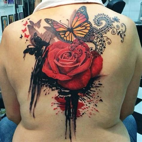 rose butterfly tattoos 40 eye catching tattoos nenuno creative
