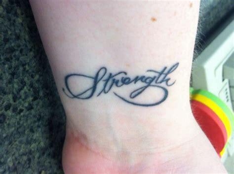infinity tattoo strength my wrist tattoo infinity strength tattoos pinterest