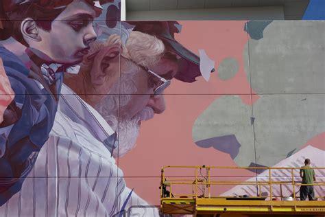 telmo miel life   story  mural  perth australia