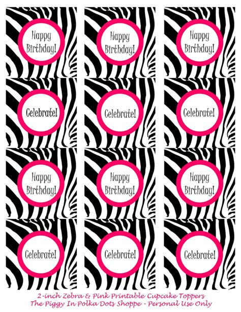 printable zebra cupcake toppers 143 best toppers tags flags images on pinterest tags