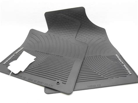 Highlander Floor Mats by Oem 2008 2010 Toyota Highlander Hybrid Front Rubber Floor