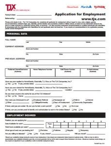 printable job applications marshalls online job application marshalls online application