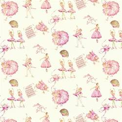 Royal ballet fabric by the yard pink fabric carousel designs