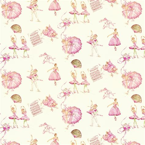 Clearance Home Decor Fabric by Royal Ballet Fabric By The Yard Pink Fabric Carousel