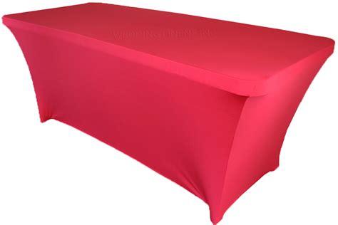 6 ft rectangular fuchsia spandex table covers