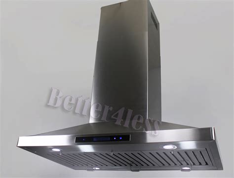 the stove exhaust fan 48 quot island mount stainless steel range stove vent