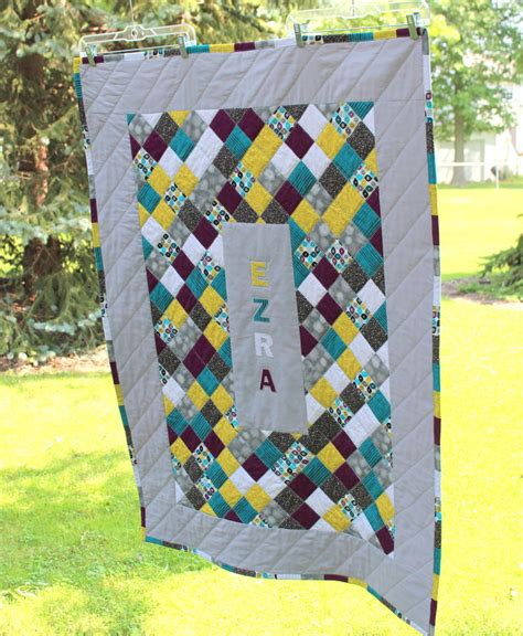 Personalised Patchwork Quilt - custom baby quilt patchwork quilt personalized baby name