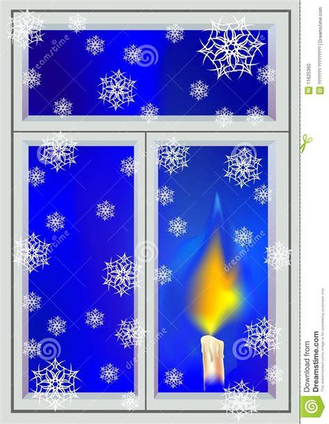 Weihnachtsdeko Fenster Mit Timer by Kerze Im Fenster Vektor Abbildung Bild Dekoration