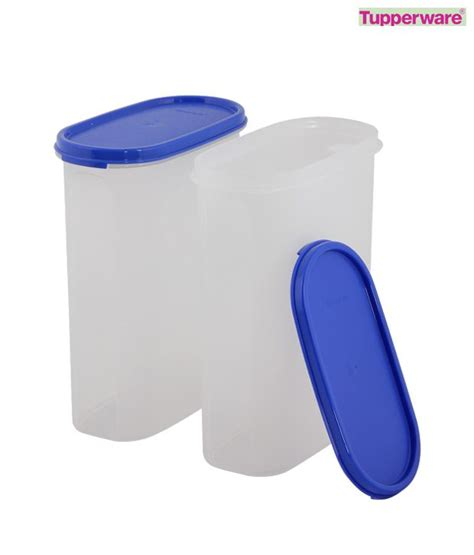 Tupperware Oval Set 3 Tupperware Set Of Two Oval Modular Mates 2 3 Ltrs Buy