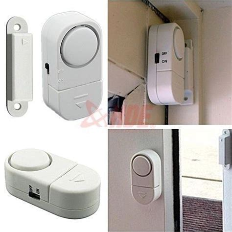 4x wireless home security door window entry burglar alarm