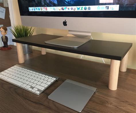9 diy computer monitor riser stand monitor stand