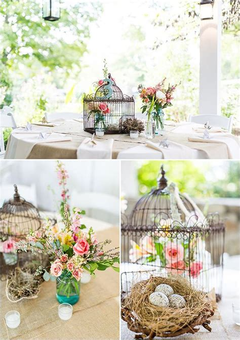 flower birdcage table decorations