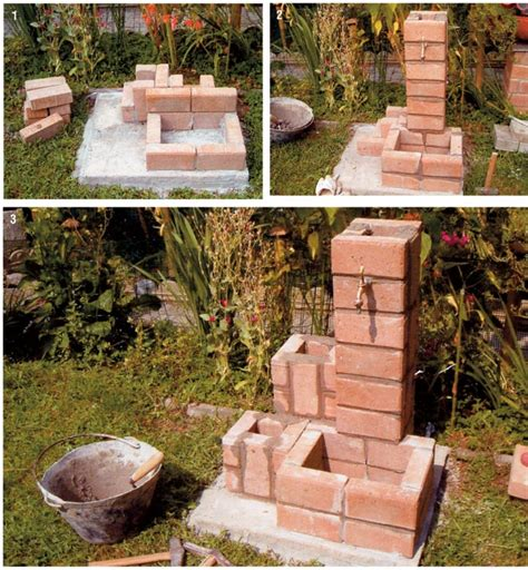 fontane da giardino brico fontana fai da te con autobloccanti bricoportale fai da