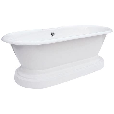 59 inch bathtub home depot elizabethan classics 5 ft 7 in cast iron dual tub on