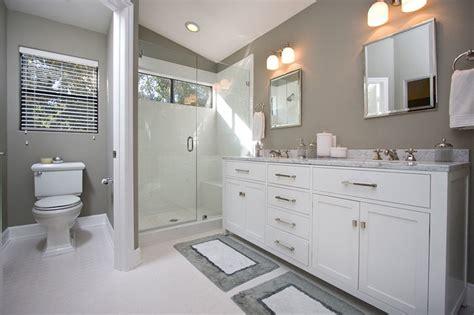 contemporary gray white bathroom remodel contemporary