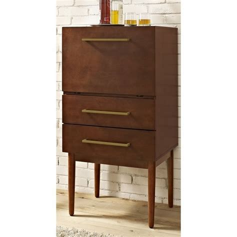 Crosley Bar Cabinet Crosley Everett Bar Cabinet In Mahogany Cf4006 Ma