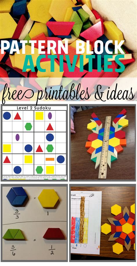 pattern math games cool math ideas for kids using pattern blocks fractions