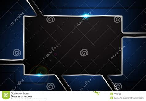 abstract background vector stock vector illustration of concepts 4369246 abstract metallic blue plate steel design modern concept frame layout background stock vector