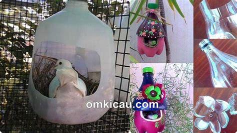 Tempat Makan Burung Dari membuat tempat sarang burung dari botol plastik unik dan